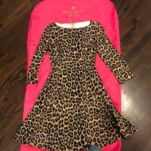 kate spade Dresses & Skirts - Kate Spade Leopard fit and flare dress